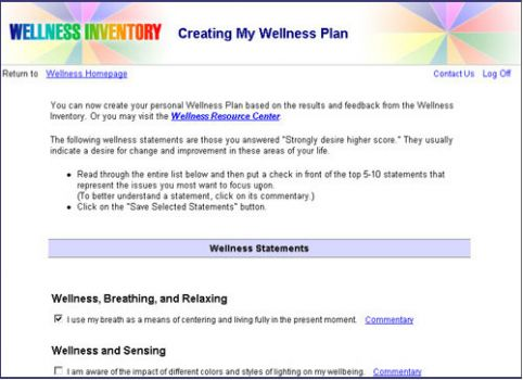 The wellness wheel for Personal wellness plan template